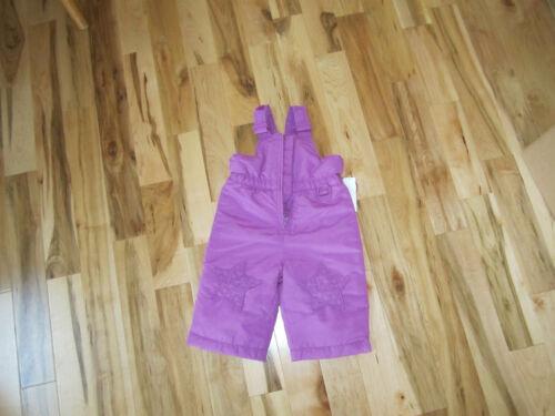 Wonderkids girls bib purple star on knee ski snow suit cover all Pants bibs pant