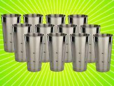 Twelve 30 Ozstainless Steel Malt Cup Ice Cream Milkshake Cups