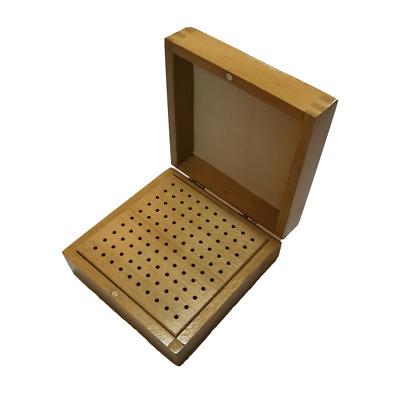 Hardwood Benchtop Tool Organizer Jewelry File Burs Sawblade Storage