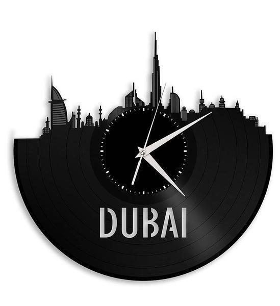 Dubai Vinyl Wall Clock City Skyline Vintage Best Gift Office Home Room Decor For Sale Online
