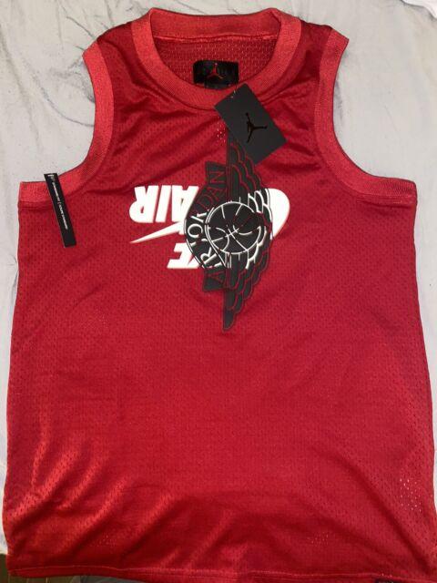 Nike Air Jordan Jumpman Classic Wings Tank top Size-Med Jersey Red $70 Mens New