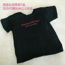cool 2016 black T shirt clothes for 18inch American girl doll children gift b211