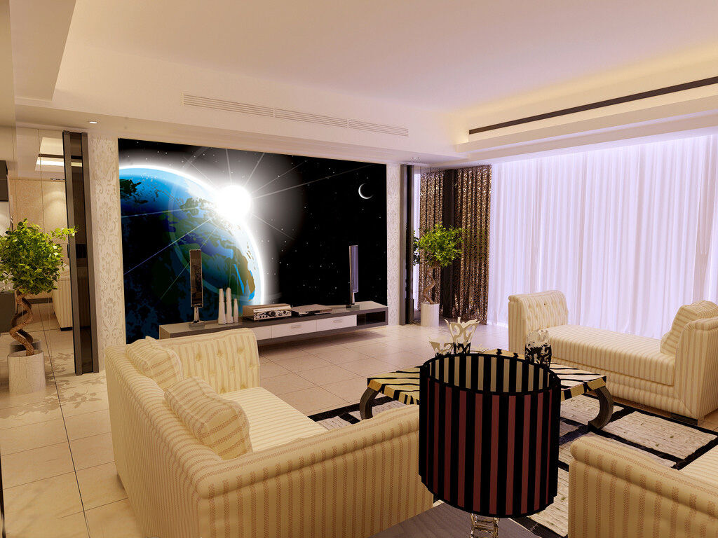 3D Earth Light Paper Wall Print Wall Decal Wall Deco Indoor Mural