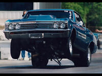 Drag Racing Ho Rod Muscle Cars Chevrolet Chevelle Poster 24 X 16 Hd