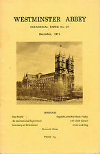 """YEHUDI MENUHIN  -""""OUR PEOPLE""""  LECTURE AT WESTMINSTER ABBEY -  (DECEMBER 1971)"""