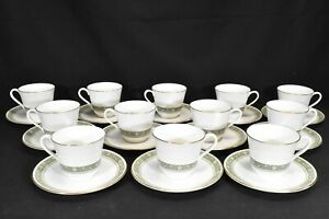 Royal-Doulton-Rondelay-H5004-Set-of-12-Cups-amp-Saucers