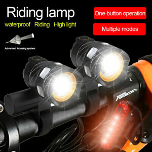 Rechargeable 15000LM XM-L T6 LED MTB Bicycle Lights Bike Front Rear Headlight