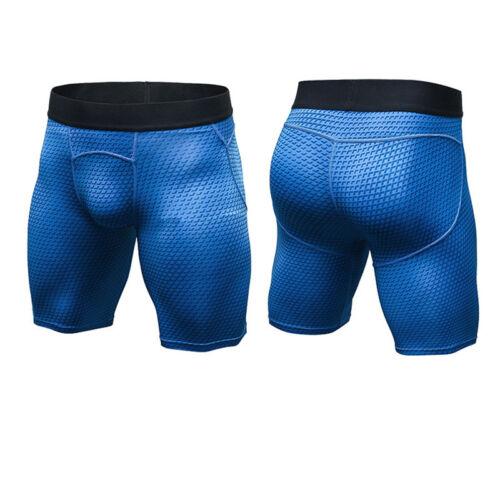 Men Sport Bodybuilding Shorts Compression Bottoms Base Layer Stretch Short Pants