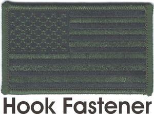 États-unis Bois Vert Noir Drapeau Patch hook & loop tape Fermeture Compatib