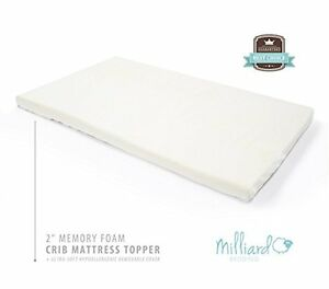 Toddler Bed Memory Foam Mattress Topper ... Inch-Ventilated-Memory-Foam-Crib-Toddler-Bed-Mattress-Topper-with-Rem