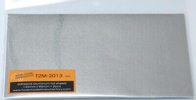 T2m Adhesive Aluminum Foil Sheet 145mm X 85mm Elegant Appearance tuner Model Manufactory