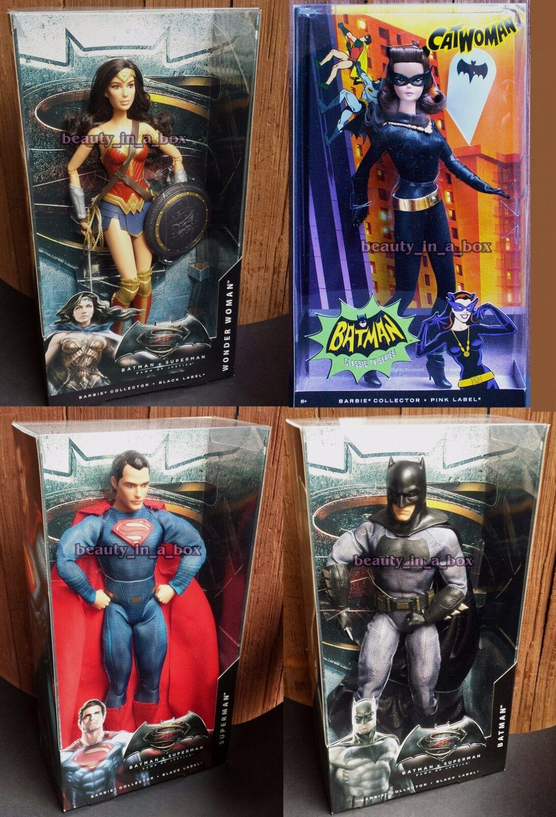 Mujer Maravilla De Muñeca Barbie Gatúbela Batman Superman Súper Héroe amanecer justicia Lote 4X