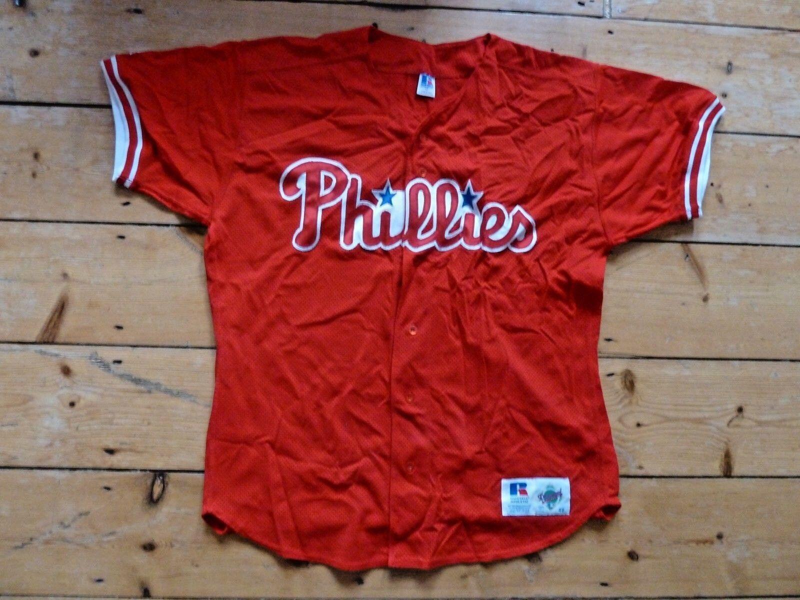 85c42a35b8e Philadelphia Phillies MLB Official Baseball Jersey Shirt size 48 (size large )