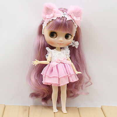 """12/""""Neo Blythe Doll Transparent Skin  from Factory Joint Body Nude Doll 99004"""