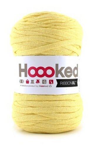 Hoooked ribbonxl 120M crochet punto tejer hilado de de Algodón-Amarillo Esmerilado
