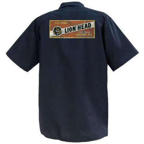 Gilmore Motor Oil work Mechanics Graphic Work Shirt  Short Sleeve