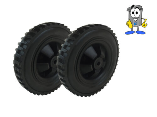 sack truck roues 146mm Large 10mm bore hole Paire de pêche Noir Trolly