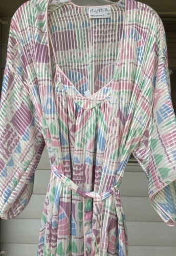 Vintage Mary Mcfadden Robe Gown Set Southwest Trib