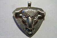 Six Pewter Cowboy Bull Pendants