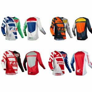 FOX Men Riding Jersey Long Sleeve T-shirts Motocross//MX//ATV//BMX//MTB Dirt Bike
