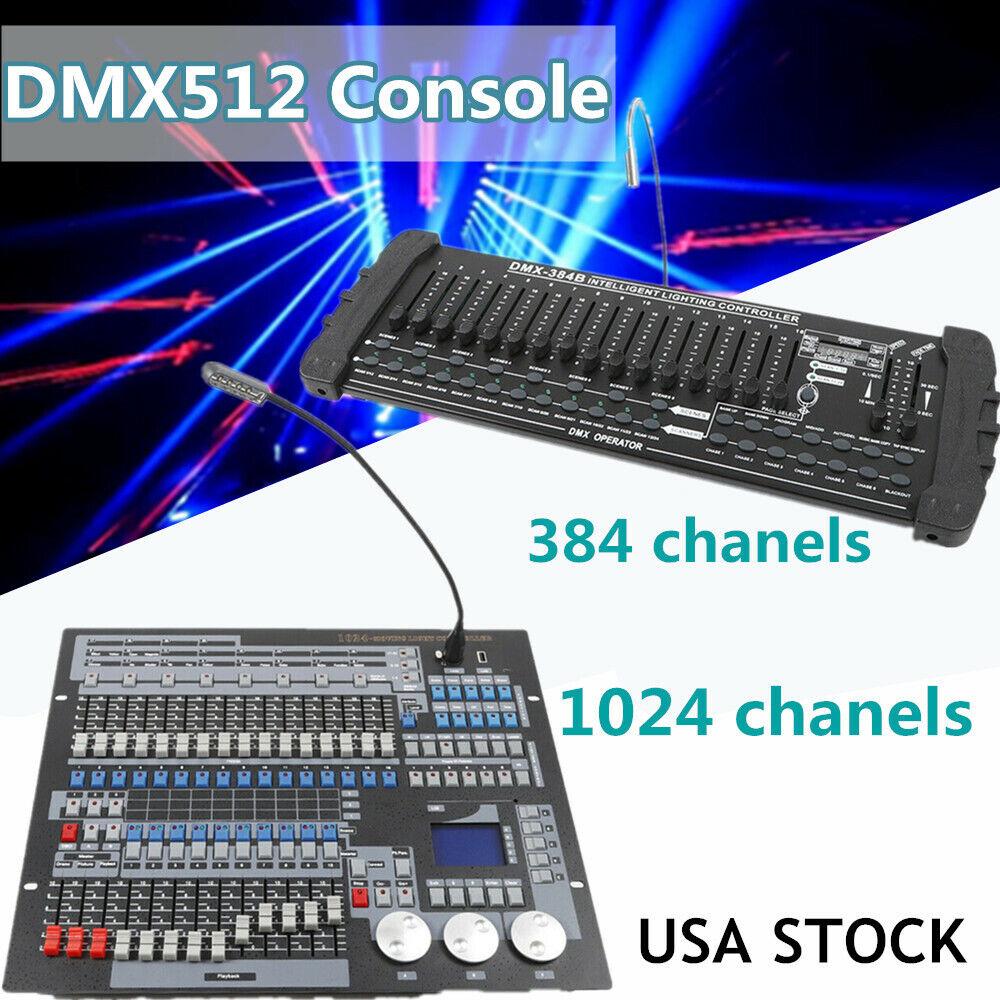 384 1024 DMX512 Controllerkonsole für Bühnenlichtbetreiber