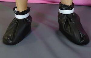socken-socks-calze-boots-bett-bed-black-adult-neu-pvc-plastic-NEU-Diargh