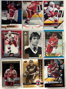 Steve-Yzerman-9-Card-Lot-O-Pee-Chee-Upper-Deck-Rookie-Update-Legend-Red-Wings