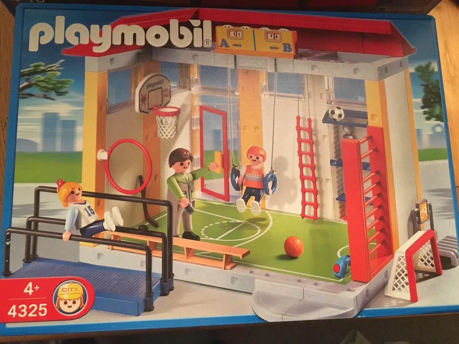 Playmobil 4325 Escolar Gimnasio Nuevo Y En Caja-artículo Raro Descatalogado