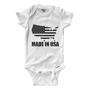 Made-In-USA-Infant-Gerber-Baby-Onesies-Bodysuit-Clothes-Baby-shower-Gift-Murica
