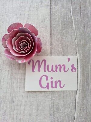 30 /& Fabulous Wine Gin Glass Vinyl Decals Sticker Birthday Mum Sister Friend DIY