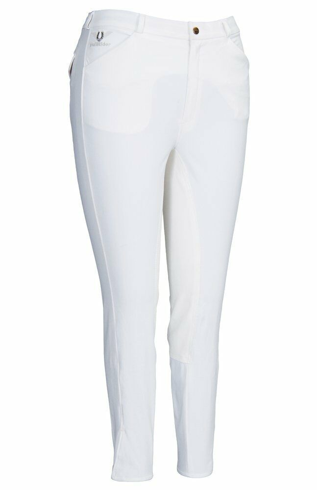 NWT TuffRider Men's 34W White  Grand Prix  Equine Full Seat Breeches Pants