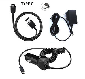 Details about Type C USB + Wall + Car Charger for ZTE Blade Z Max Z982 /  ZMax Pro 2 / Sequoia