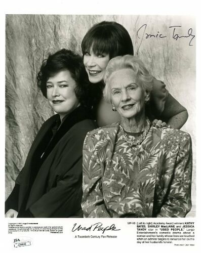 JESSICA TANDY JSA CERTED SIGNED 8X10 PHOTO AUTHENTIC AUTOGRAPH