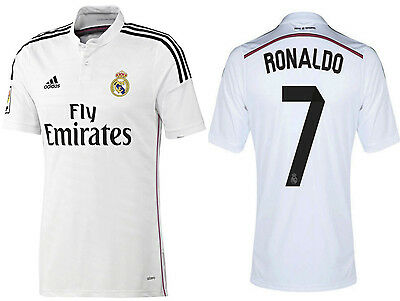 new style 3ba33 85671 ADIDAS CRISTIANO RONALDO REAL MADRID AUTHENTIC HOME ADIZERO JERSEY 2014/15.    eBay