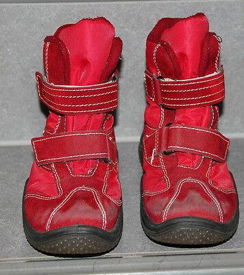 rote ORITEX Winter Stiefel Gr 34 Winterstiefel Klettverschluss Schuhe