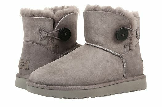 a02281c397d UGG W Mini Bailey Button II BOOTS Leather Sheepskin Grey 1016422 Winter  2017 36 for sale online