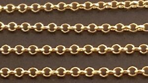 14-k-Solid-Yellow-Gold-1-5mm-Italian-Rolo-Chain-Necklace-20-034-22-034