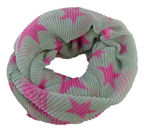Loop tubo scialle foulard zigrinata Ribbed Grooved STELLE FIORI FIORE PAPAVERO
