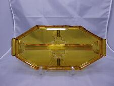 schönes Val St. Lambert Tablett Belgien Art Deco um 1930 bezeichnet