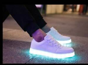 Details About Unisex Trainers Flashing Led Lights Usb Lace Up Sneakers Luminous Casual Shoes