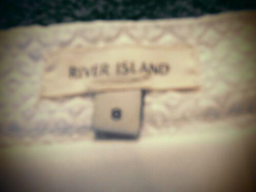 8 corta taglia taglia Cruise Holiday bianca Gonna River strutturata Island 1P4WXXnOT
