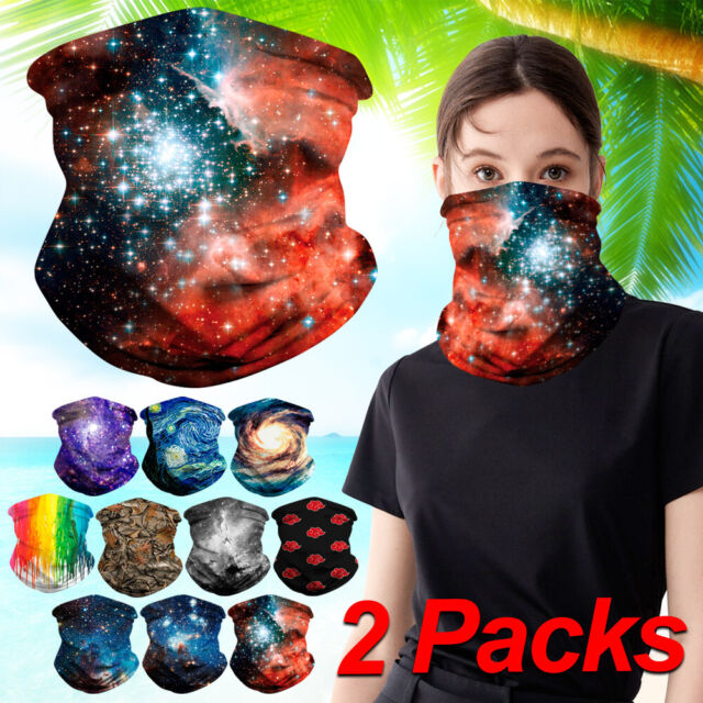 Multifunctional Headwear Cold Galaxy Space Head Wrap Elastic Turban Sport Headband Outdoor Sweatband