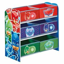 Item 2 Kids Character 6 Bin Storage Unit Bedroom Furniture Disney Peppa Pj Masks