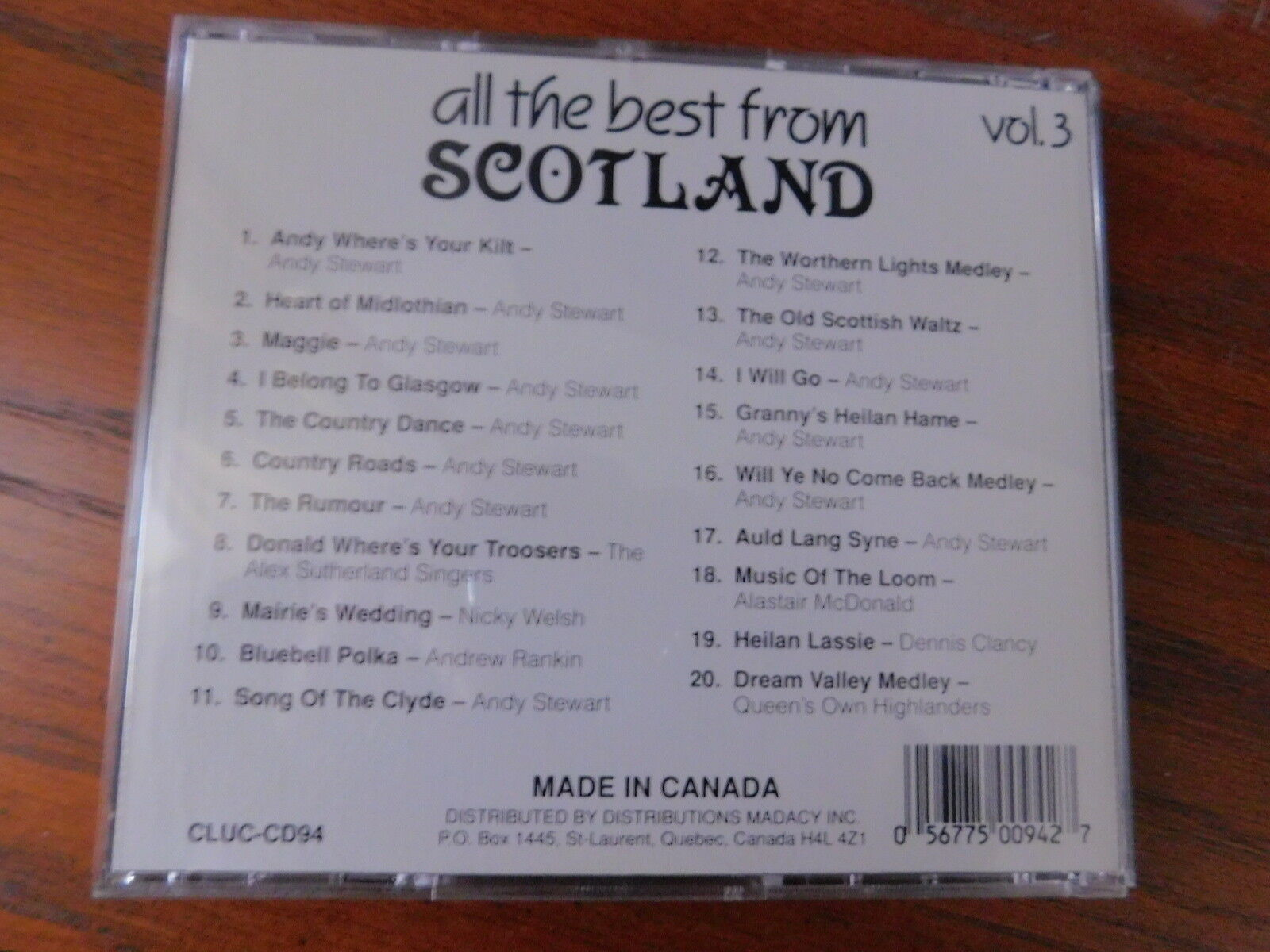 All the Best from Scotland, Vol  3 by Various Artists (CD, Jan-1992