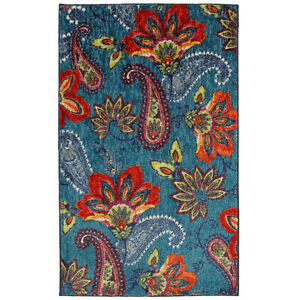 8 X 10 Modern Paisley Large Area Rug Dining Living Bed Room Turquoise Red Gre