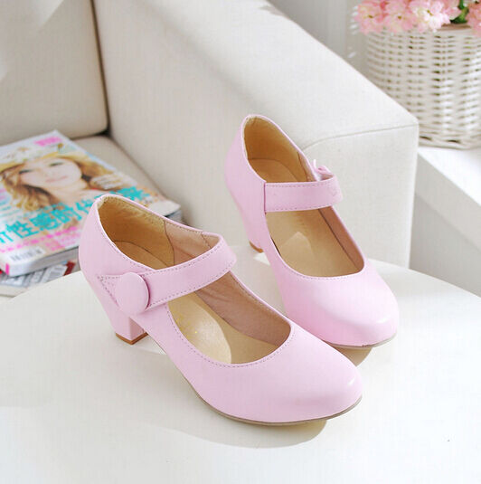Womens US4-11 Low Heels Mary Jane Shoes Ladies Milky Color Classic Shoes Fashion