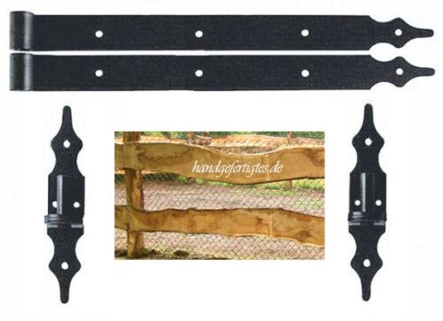 Torbeschläge, 2x Torband avec Kloben, ladenband, torbänder 40cm- portes Historiquement