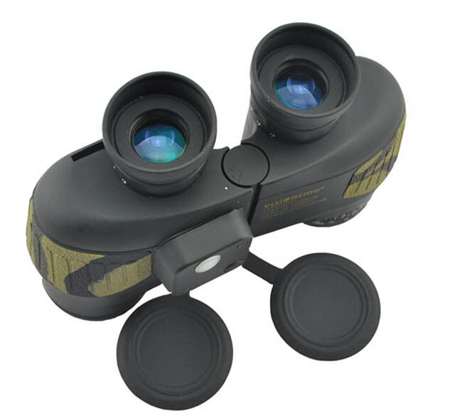 Visionking 7X50 Military Marine Binoculars Bak4 Waterproof Range Finder Compass