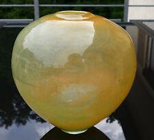 Schwere ältere Glas Vase mit kleinen Luftblaseneinschlüssen 3,1 kg wohl WMF !!!