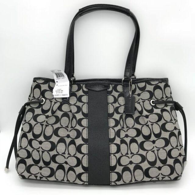 Coach Signature Drawstring Carryall Bag Purse F28501